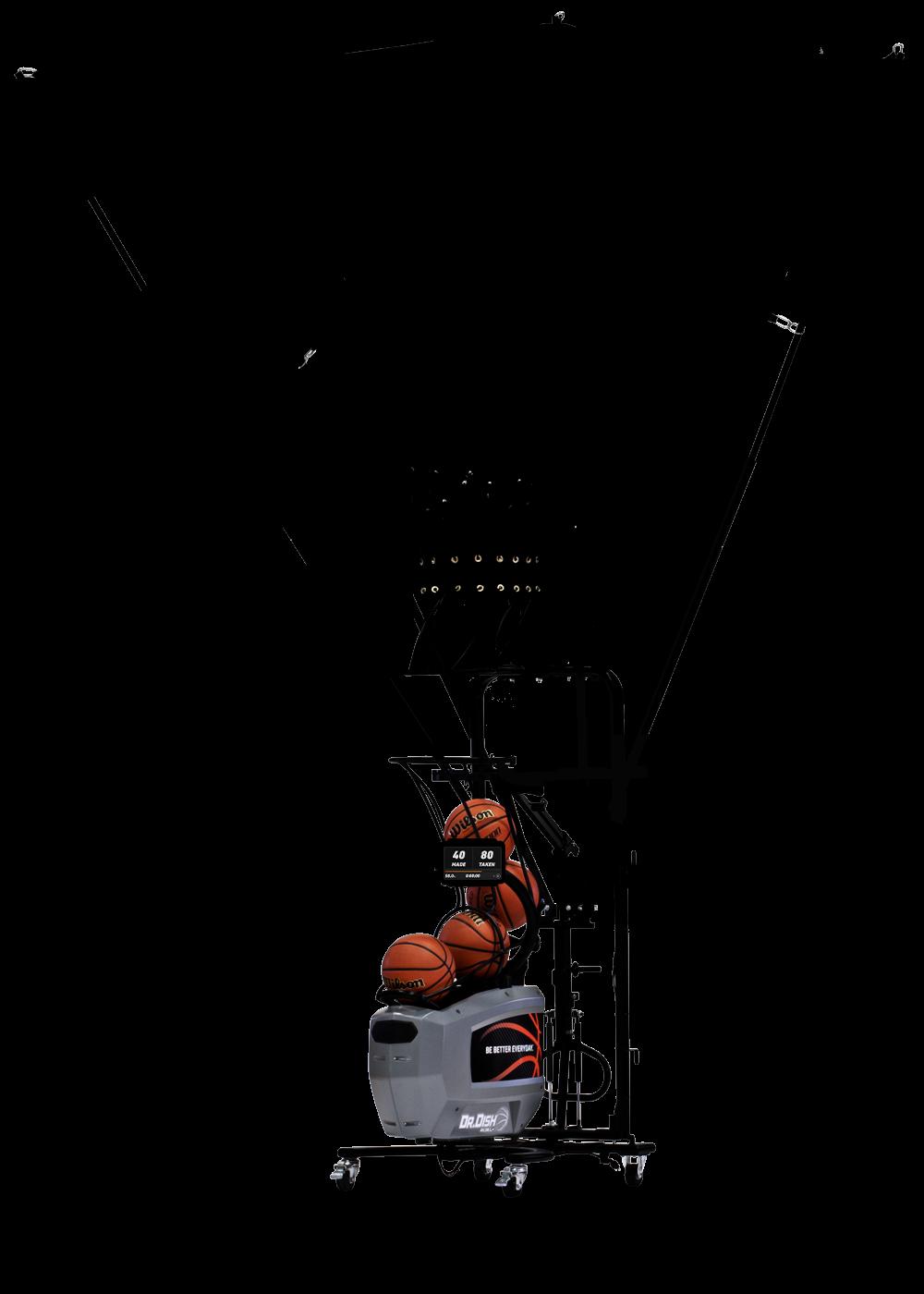 Dr. Dish Rebel+ Basketball Shooting Machine